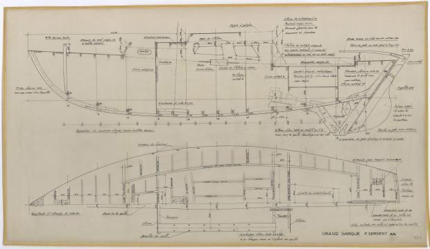 PLAN DE CONSTRUCTION - LE GRAND SARGUE  (1961)