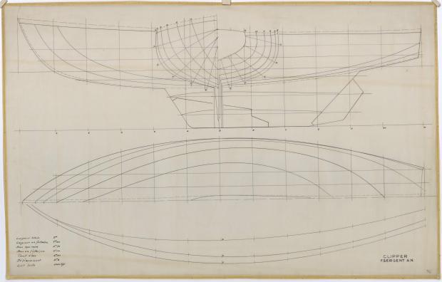 PLAN DE COQUE - CLIPPER  CC DE  9 m (1961)
