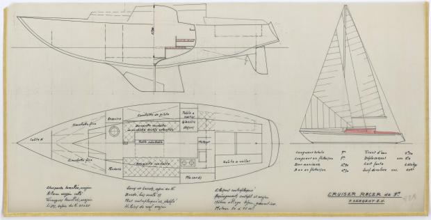 PLAN GENERAL - CRUISER RACER de 9 m (1961)