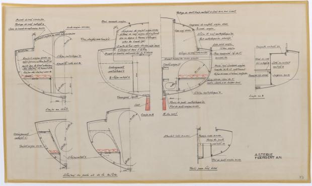 PLAN DE CONSTRUCTION - ASTERIE 7,50 M à Dérive (1961)