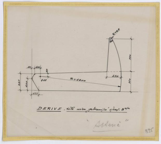 PLAN DE DERIVE/QUILLE - ASTERIE 7,50 M à Dérive (1961)