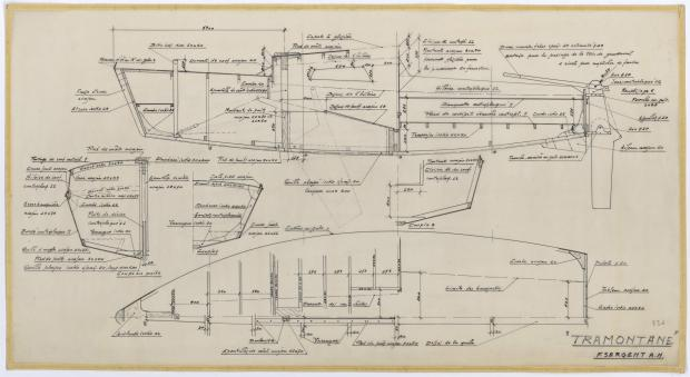 PLAN DE CONSTRUCTION - TRAMONTANE  (1961)