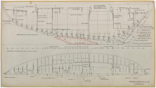 PLAN DE CONSTRUCTION - PATRICIA III CRUISER Hte mer 13 m  (1962)