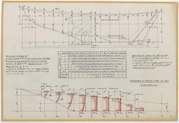 PLAN DE DERIVE/QUILLE - PATRICIA III CRUISER Hte mer 13 m  (1962)