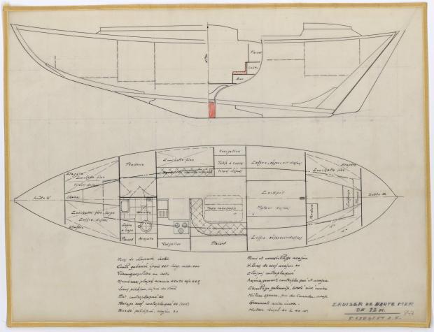 PLAN D'AMENAGEMENT  - PATRICIA III CRUISER Hte mer 13 m  (1962)