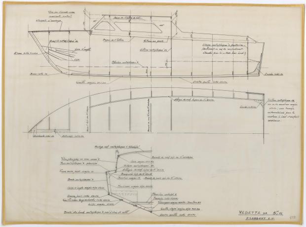 PLAN DE CONSTRUCTION - VEDETTE DE  5,75 m (1962)