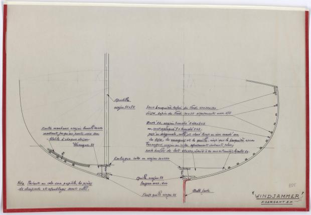 PLAN DE CONSTRUCTION - WINDJAMMER  10 M (1962)