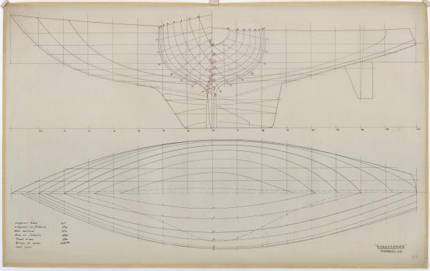 PLAN DE COQUE - WINDJAMMER  10 M (1962)