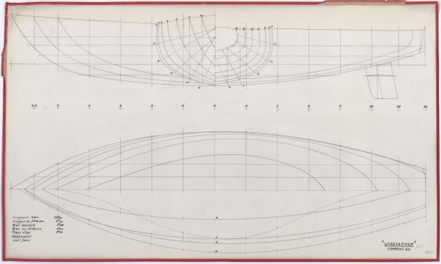 PLAN DE COQUE - WINDJAMMER  12,20 M (1962)