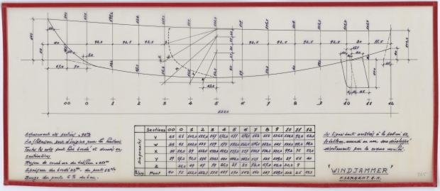 PLAN DE CONSTRUCTION - WINDJAMMER  12,20 M (1962)