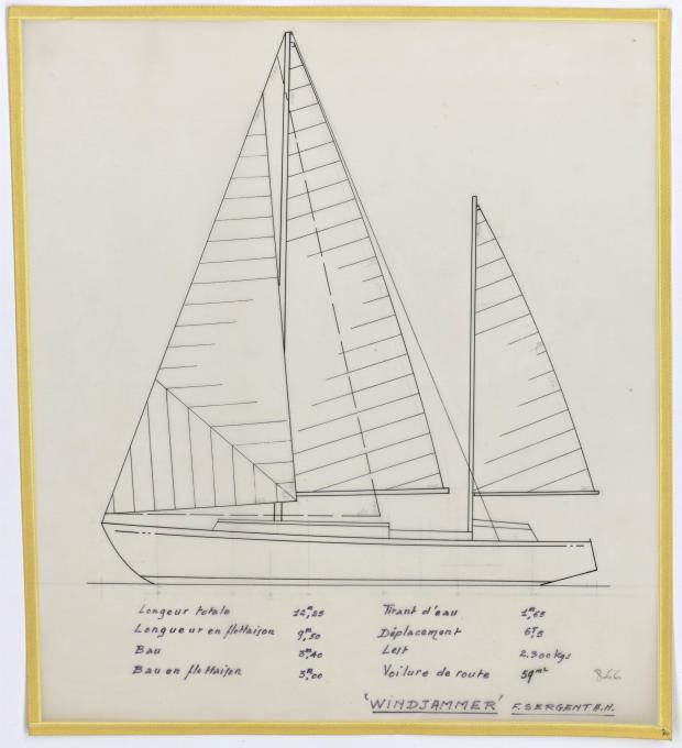 PLAN GENERAL - WINDJAMMER  12,20 M (1962)