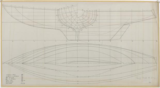 PLAN DE COQUE - RACING CRUISER 10,70 M (1962)