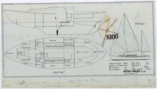 PLAN GENERAL - MILLE MOTOR SAILOR 10 M (1962)
