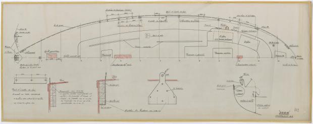 PLAN DE PONT - MILLE MOTOR SAILOR 10 M (1962)