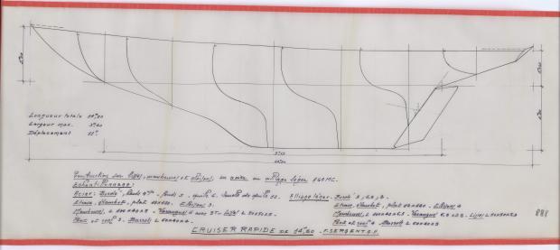 PLAN DE CONSTRUCTION - CRUISER  13,50 M (1963)