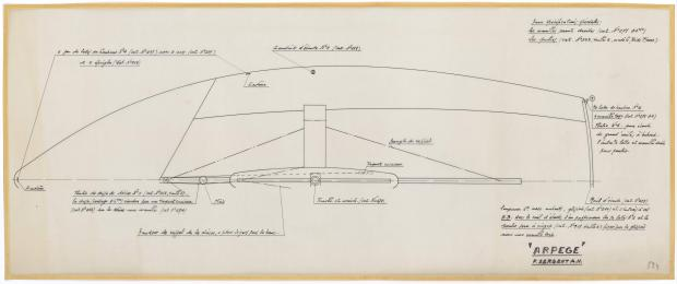 PLAN DE PONT - ARPEGE DERIVEUR 4 M  (1963)
