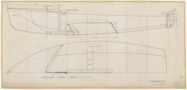 PLAN DE CONSTRUCTION - ARPEGE DERIVEUR 4 M  (1963)