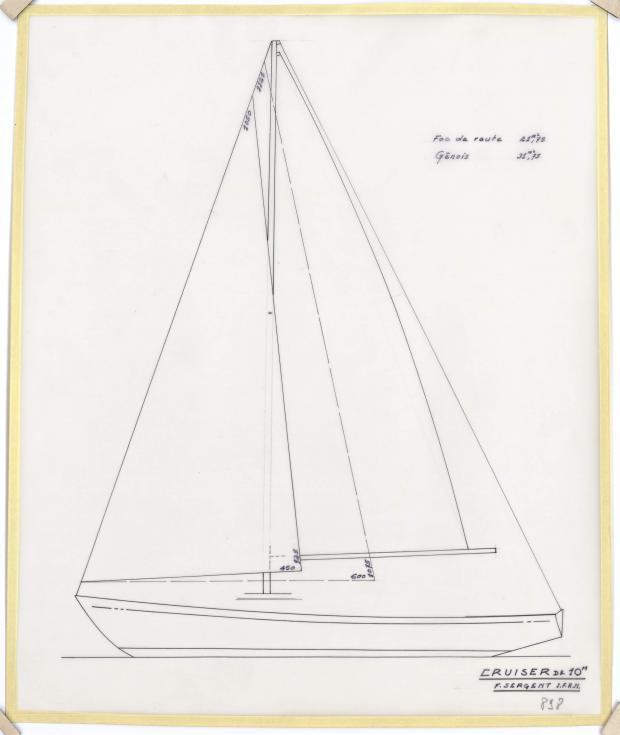 PLAN DE VOILURE/GREEMENT - CRUISEUR RAPIDE 10 M (1963)