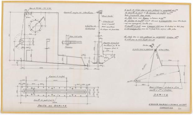 PLAN DE DERIVE/QUILLE - CRUISEUR RAPIDE 10 M (1963)