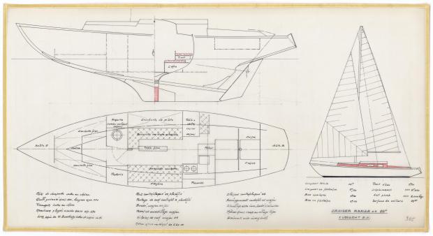 PLAN D'AMENAGEMENT  - CRUISEUR RAPIDE 10 M (1963)