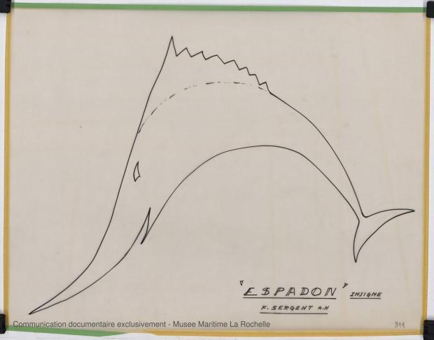 ETIQUETTE - ESPADON 8,50 M (1963)