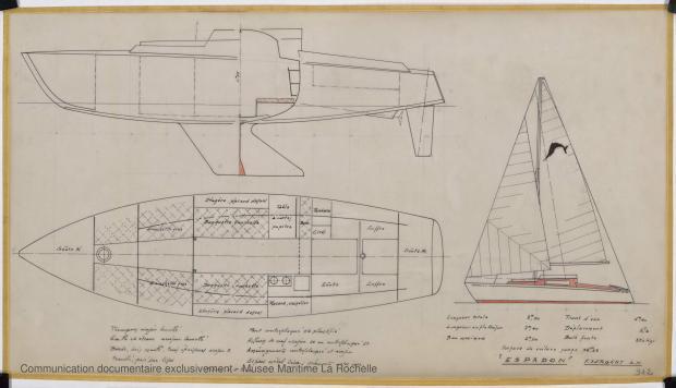 PLAN D'AMENAGEMENT  - ESPADON 8,50 M (1963)