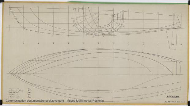 PLAN DE COQUE - ESPADON 8,50 M (1963)