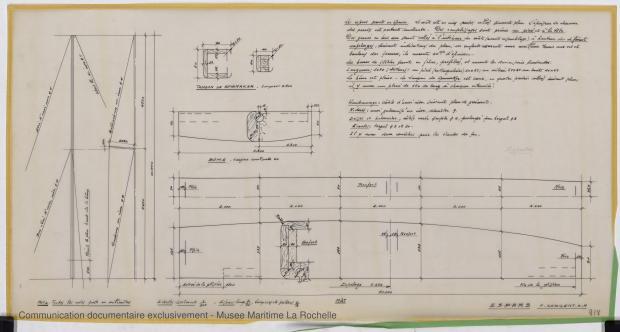PLAN DE VOILURE/GREEMENT - ESPADON 8,50 M (1963)