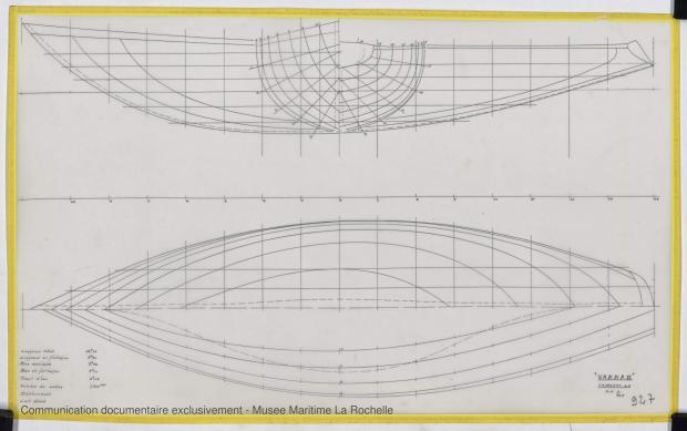 PLAN DE COQUE - Varna II   12,35 m (1964)