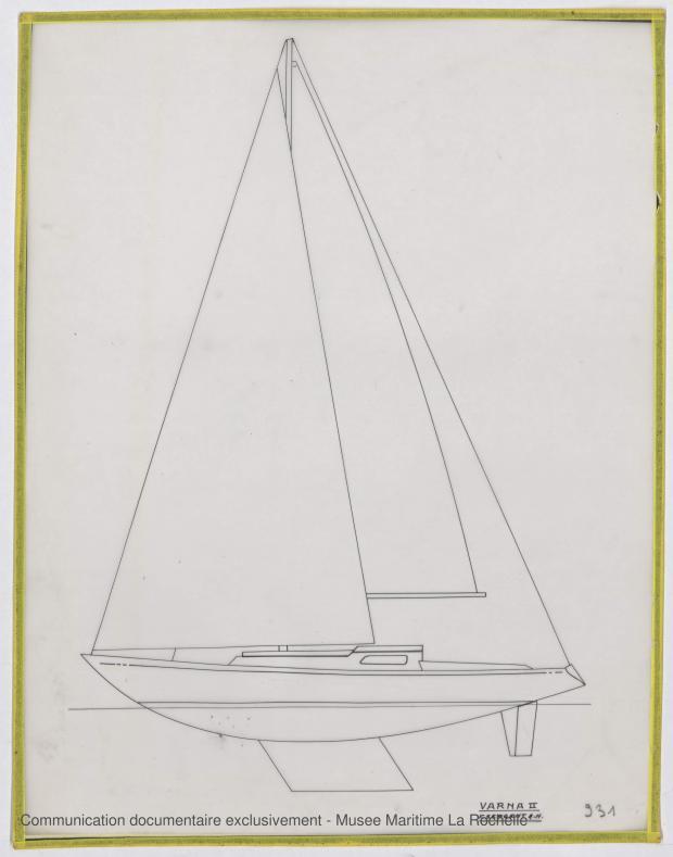 PLAN DE VOILURE/GREEMENT - Varna II   12,35 m (1964)