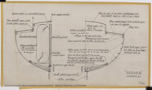 PLAN DE CONSTRUCTION - Varna II   12,35 m (1964)
