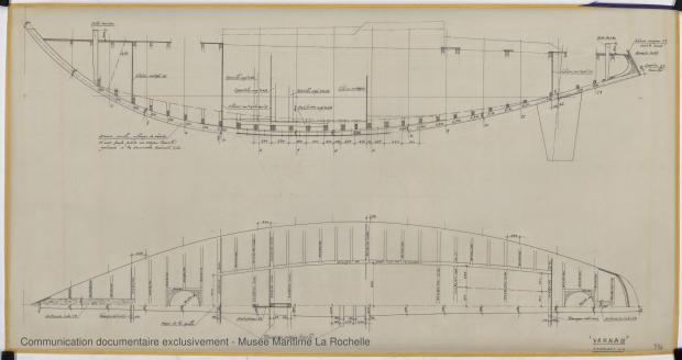 PLAN DE CONSTRUCTION - Varna II   12,35 m (1964)