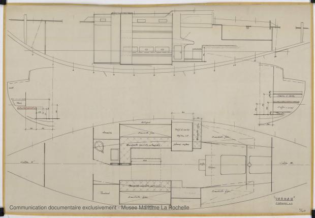 PLAN D'AMENAGEMENT  - Varna II   12,35 m (1964)