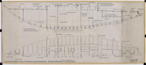PLAN DE CONSTRUCTION - Thetis III , Facel IV & Ste Anne IV 11,50 m (1964)