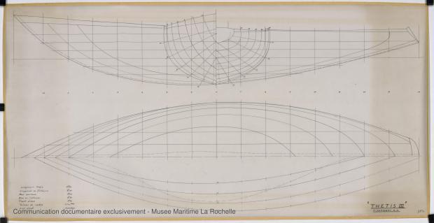 PLAN DE COQUE - Thetis III , Facel IV & Ste Anne IV 11,50 m (1964)