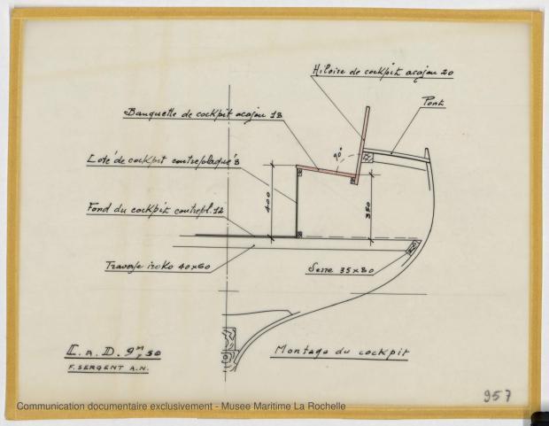 PLAN DE CONSTRUCTION - Papsy  Cruiser à dérive 9,50 m (1964)
