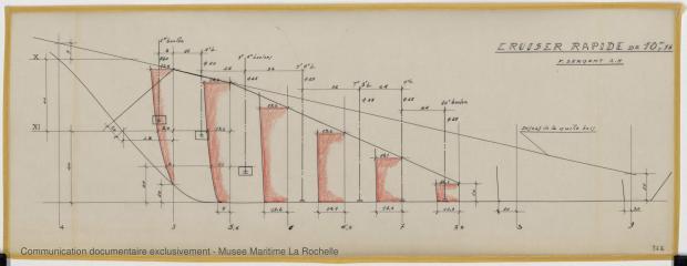 PLAN DE DERIVE/QUILLE - Croiser rapide 10,75 m (1964)