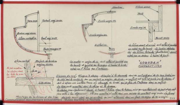 PLAN DE CONSTRUCTION - Logoden, Sloop 5,40 m (1964)