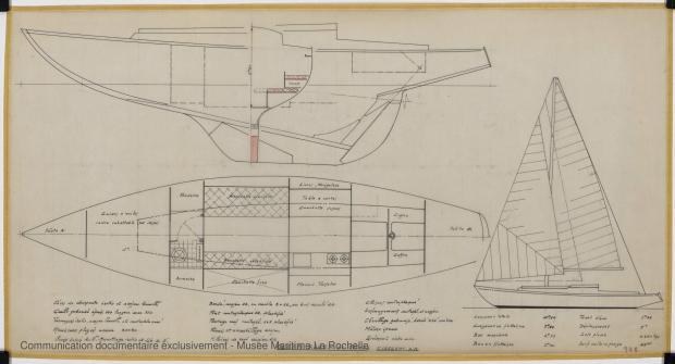 PLAN GENERAL - Facel III  Course croisière  10,60 m (1964)