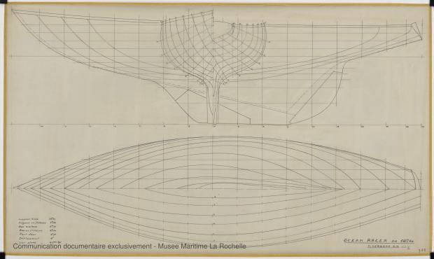 PLAN DE COQUE - Facel III  Course croisière  10,60 m (1964)