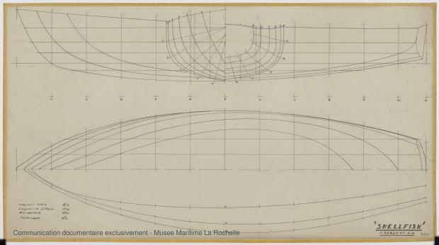 PLAN DE COQUE - Shelfish  8,75 M (1965)