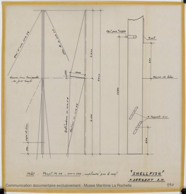 PLAN DE VOILURE/GREEMENT - Shelfish  8,75 M (1965)