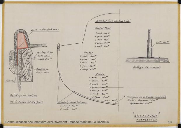 PLAN DE CONSTRUCTION - Shelfish  8,75 M (1965)