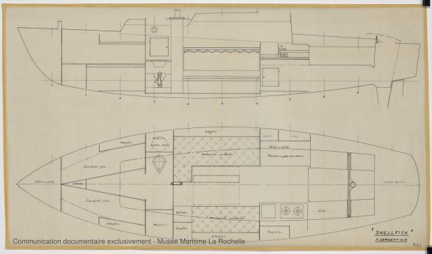 PLAN D'AMENAGEMENT  - Shelfish  8,75 M (1965)