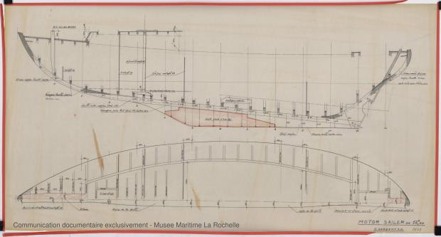 PLAN DE CONSTRUCTION - Circé  Motor sailor 12,50 m (1966)