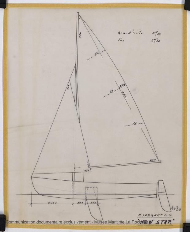 PLAN DE VOILURE/GREEMENT - New Star Dériveur 3,75 M (1966)