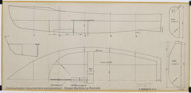 PLAN DE CONSTRUCTION - New Star Dériveur 3,75 M (1966)