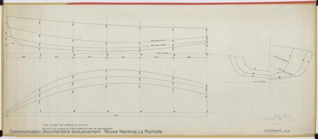 PLAN DE COQUE - New Star Dériveur 3,75 M (1966)