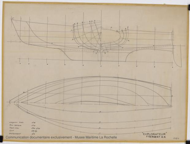 PLAN DE COQUE - Explorateur peche promenade 5,76 m (1966)