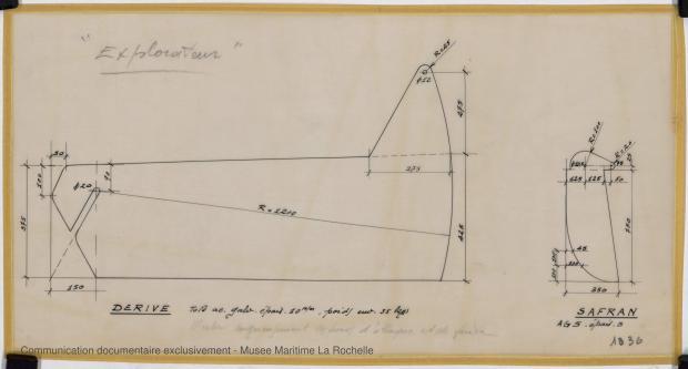 PLAN DE DERIVE/QUILLE - Explorateur peche promenade 5,76 m (1966)